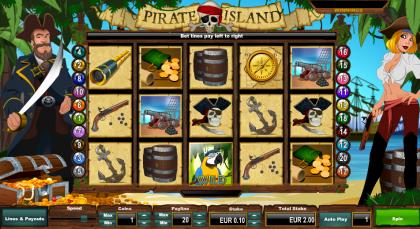 หน้าต่างเข้าเล่นเกม pirate-island