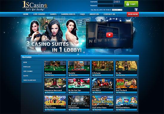 1scasino.com