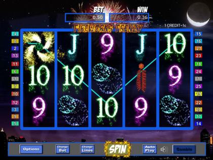 Fireworks Frenzy slot winner