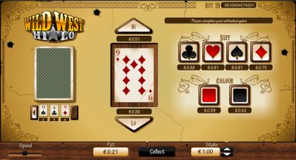 SBobet Hi-lo Games Wild West HILO Rules